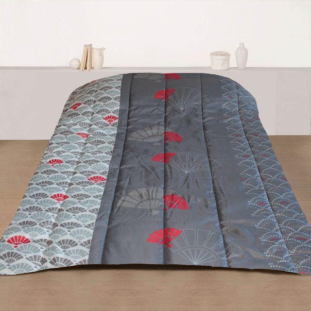 marque generique couette imprim e 220x240 cm ventail pas cher achat vente couettes. Black Bedroom Furniture Sets. Home Design Ideas