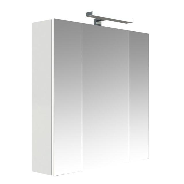 allibert armoire de toilette juno 3 portes blanc pas cher achat vente meubles de salle. Black Bedroom Furniture Sets. Home Design Ideas