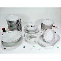 4d83d36c15fa48 Générique - Service de table Vaisselle en porcelaine de Bavière pour 12  personnes 44 pièces