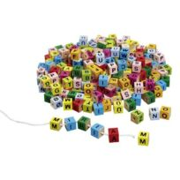 Goki - Cubes De Lettres ColorÉS, À Enfiler