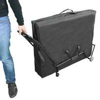 VIVEZEN - Chariot à roulettes pliable et transportable pour table de massage