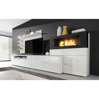Home Innovation - Ensemble de salon avec cheminée - Olympo