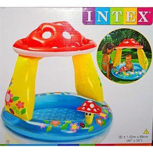 Intex 57114np piscine gonflable champignon pas cher for Piscine bebe champignon