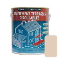Procom - Peinture d'étanchéité imperméabilisante pour terrasse circulable, balcons, sols extérieurs, bétons, plusieurs coloris-10 litres-Sable