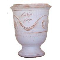 Terre Figuiere - Vase D'ANDUZE cérusé naturel Dimensions : N°1 - H35cm x D32cm