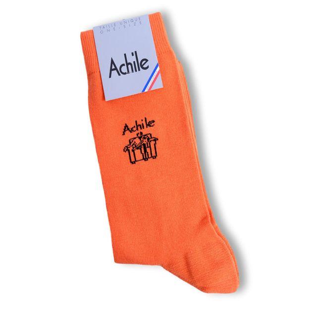 4f1b7c7f881 Achile - Achile - Chaussette Homme - Chaussette homme taille 39 46 couleur  orange