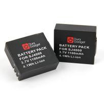 Duragadget - 2 batteries de rechange pour Qumox, TecTecTec, Excelvan, Sjcam, Cooler, Eken, Takara