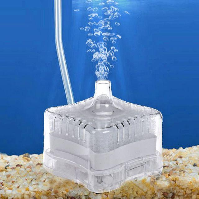 Aquarium Air Filtre Réservoir Biochimique Eponge Poisson pour Pompe Oxygène Blanc