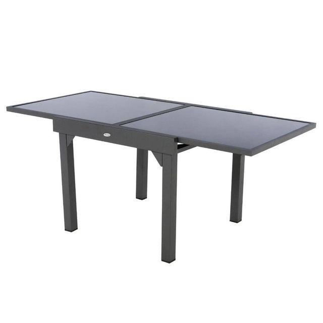 HESPERIDE - Table extensible carrée en verre Piazza 4/8 ...