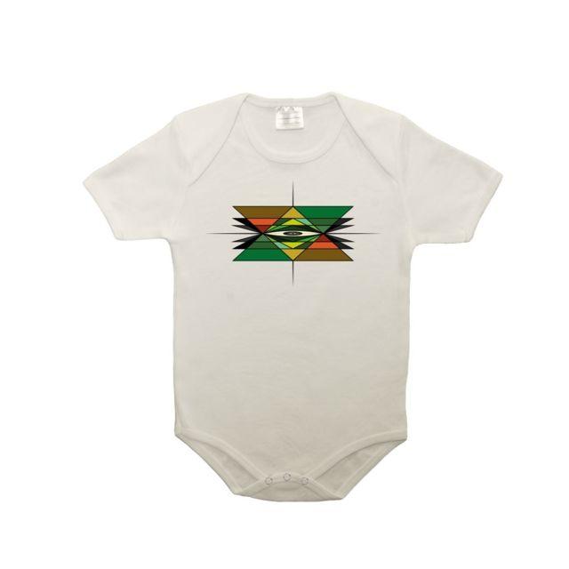 Mygoodprice - Body bébé 100% coton dessin géométrique 6-12 mois Blanc 199a067888b
