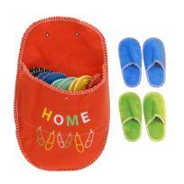 6194fa4432456 Touslescadeaux - 5 paires de chaussons pantoufles invités dans un chausson  géant - Orange