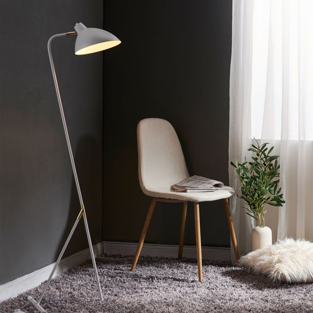 76922ff9 VERSANORA - Lampadaire Delicata lampe de sol sur pied blanche dorée VN -L00043-EU