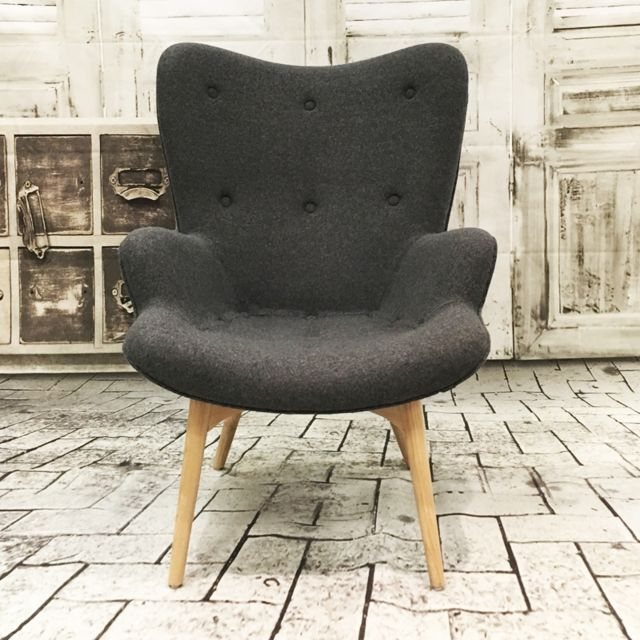 Ego Design Fauteuil Ange Design en laine gris