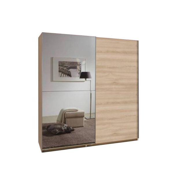 Inside 75 Dressing portes coulissantes Clapton 179 cm chêne / miroir