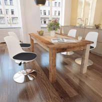 Chaise de salle à manger 4 pcs Réglable Blanc et noir | Multicolore