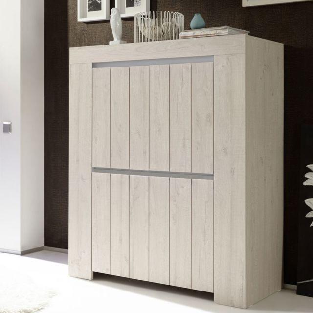 tousmesmeubles vaisselier 4 portes ch ne beige almati. Black Bedroom Furniture Sets. Home Design Ideas