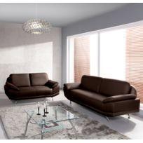 Relaxima - Canape fixe Ottawa : 3 places 2 places - Plusieurs coloris au choix