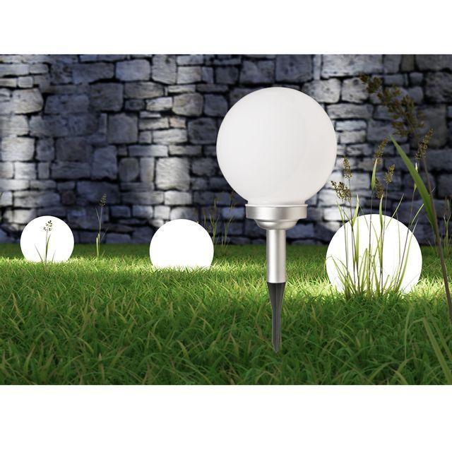 maison futee lampe solaire globe de jardin 30 cm pas. Black Bedroom Furniture Sets. Home Design Ideas