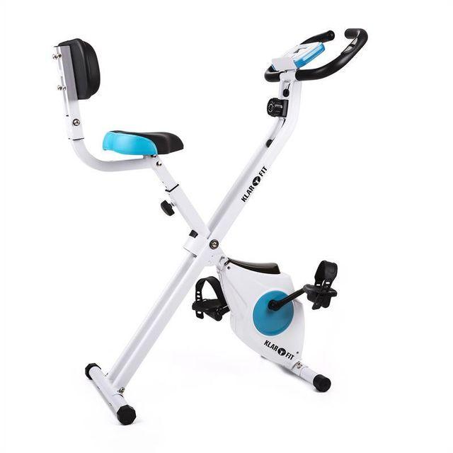 KLARFIT - Azura Vélo d'appartement confort avec dossier, pliable, 100 kg Régulière