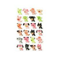 Maildor - Cooky - 24 Stickers 3D - Chiens