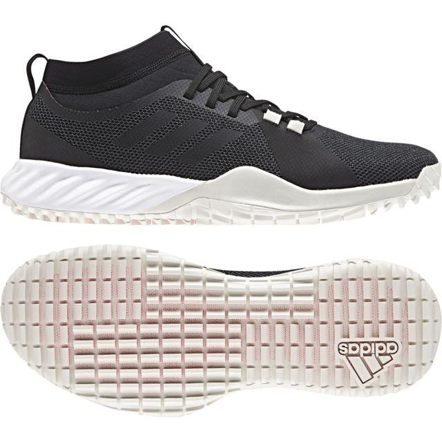 half off 582a4 af084 Adidas - Chaussures Crazytrain Pro 3.0 Trf gris carbonenoirblanc cassé -  42 - pas cher Achat  Vente Chaussures fitness - RueDuCommerce