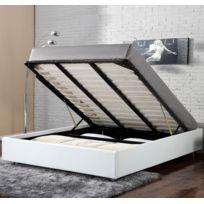 Confort+ - Lit Coffre Clever Blanc 160x200