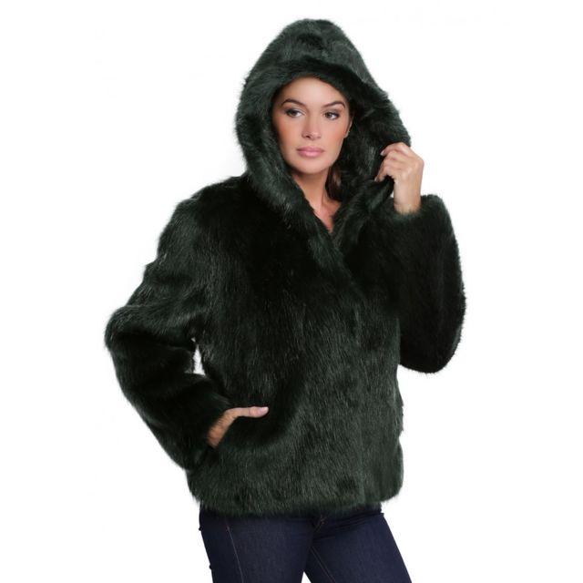 où puis je acheter prix de détail acheter populaire Oakwood - Veste capuche fausse fourrure femme Electro 62407 ...