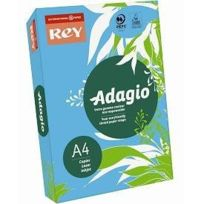 Rey - 336143 Adagio Ramette de 500 feuilles papier A4 pour Copieur/Laser/Jet d'encre 80 g Bleu intense Lot de 5
