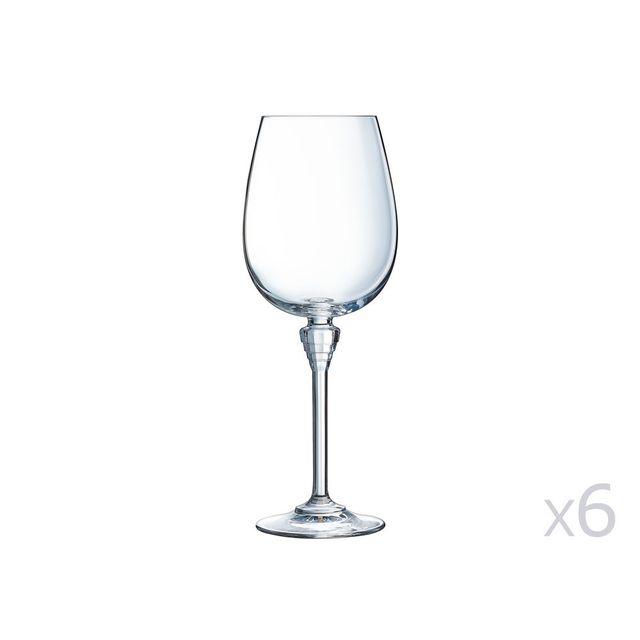 cristal d 39 arques verre pied en cristallin 45cl lot de 6 amarante pas cher achat vente. Black Bedroom Furniture Sets. Home Design Ideas