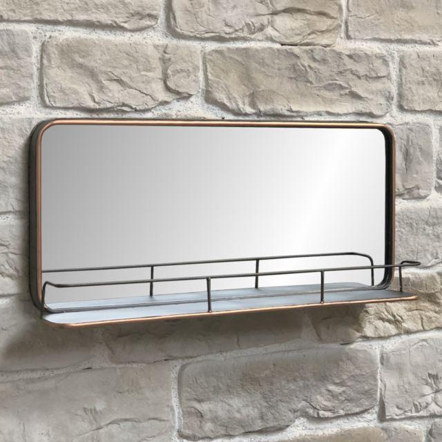 L'ORIGINALE Deco Long Miroir Tablette Fenêtre Industriel Métal 91 cm x 40.50 cm x 13 cm