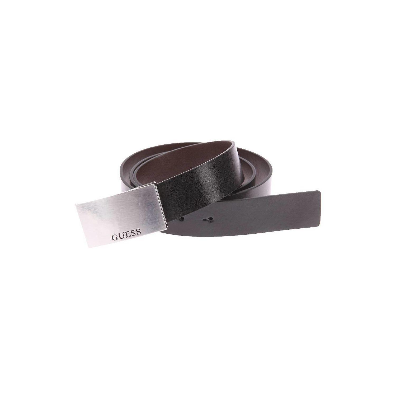 bc8af71f414 GUESS- Coffret   Ceinture ajustable noire réversible marron