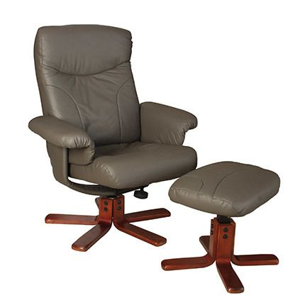Fauteuil cuir Taupe