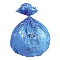 Jet'SAC - Sac poubelle 50 litres bleu Nf - paquet de 50