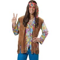 finest selection ab88b 4e290 Gilet hippie à franges homme M/L