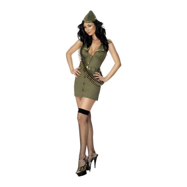 5b3f92be5dbd32 Déguisement militaire kaki femme sexy L - pas cher Achat   Vente Panoplies  - RueDuCommerce
