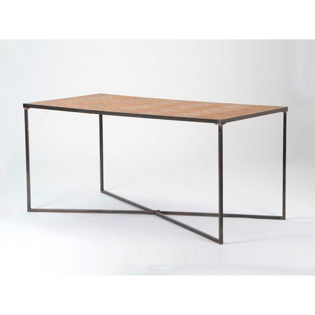 La maison du canap table manger parquet bois clair pas cher achat vente tables - La maison du parquet ...