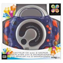 Bigben - Audio - A1303243 - Lecteur Cd Avec 2 Micros - Bleu