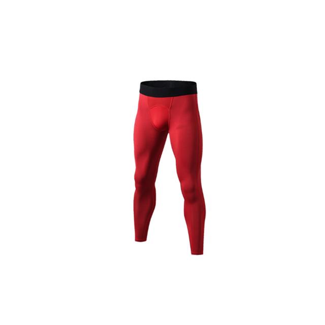 >YP Select Pantalon de compression pour homme Cool Dry Baselayer Tights Leggings - Rouge XL