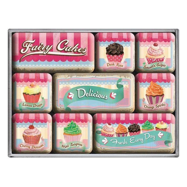 Universel Lot 9 magnet cupcake gateau coloré cuisine frigo