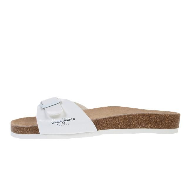 Pepe Jeans - Claquettes mules Oban blanc lady Blanc 21208