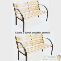 Design Accoudoirs Lot Pour Votre De Bancs En 2 Bois JardinTerrasse 6gyIY7bvf