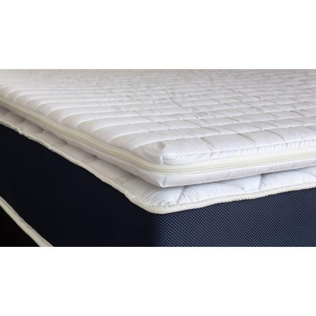HBEDDING Sur-matelas déhoussable 160x200 Confort Plus - Mousse polyuréthane