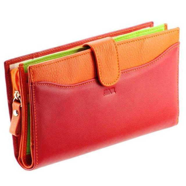 Kinsell - Portefeuille femme   Portefeuille en cuir Rouge haut de ... a74a2885398