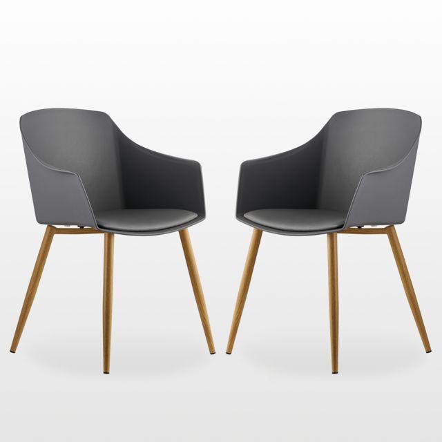 Home Design International Eden Lot de 2 Chaises Design
