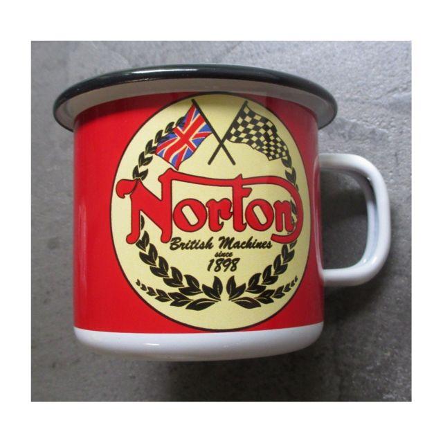 Universel Mug norton logo moto en email tasse à café emaillée bar