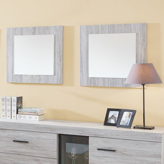 Kasalinea Miroir carré couleur chêne gris Lady