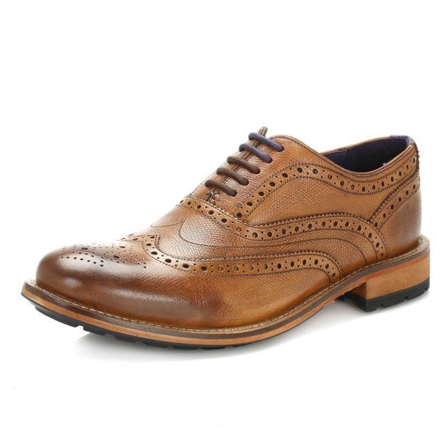 Ted Baker Mens Tan Guri 8 Leather Brogue Shoes UK 9 pas