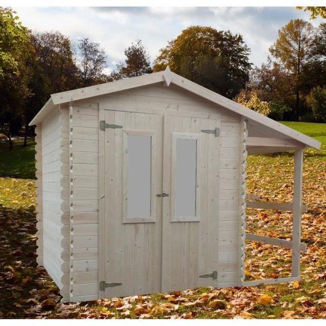chalet jardin abri de jardin en bois avec bucher 6m2 eldorado pas cher achat vente abris. Black Bedroom Furniture Sets. Home Design Ideas