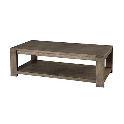 Table basse rectangulaire 120 x 60 cm sous plateau Hambourg - marron