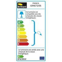 Brilliant - Kit de 3 spots encastrés orientables Led Franca diametre 8 cm Gu10 4W blanc